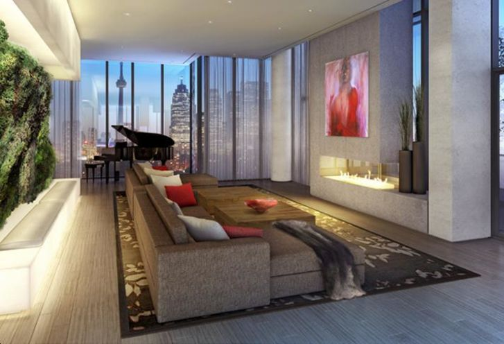 Living Room Features and Finishes at Monde Condos