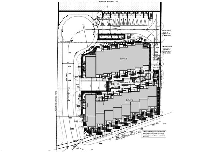 Layout of Mount Dennis Townhomes