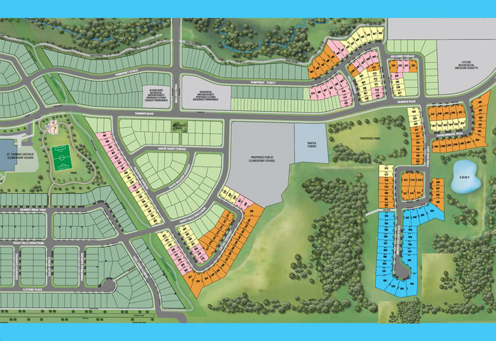 Mountainview Heights Aerial View of Site Plan