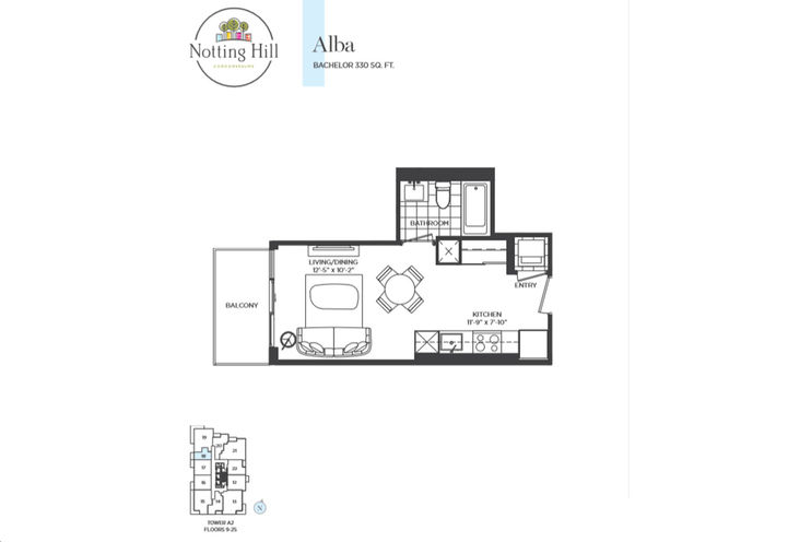 Bachelor Room Floor Plan  Sample by Lanterra Developments