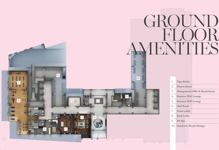 Ground Floor Amenities by Lanterra Development