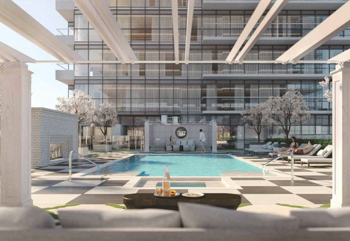Luxe Outdoor Swimming Pool at Notting Hill Condos