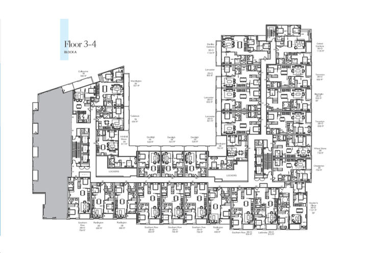Podium - Key Plan Floors 3-4