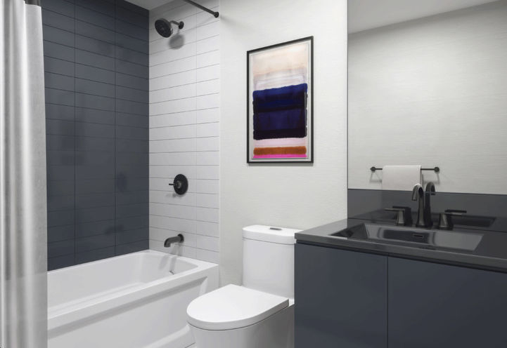 Suite Bathroom at Notting Hill Condos