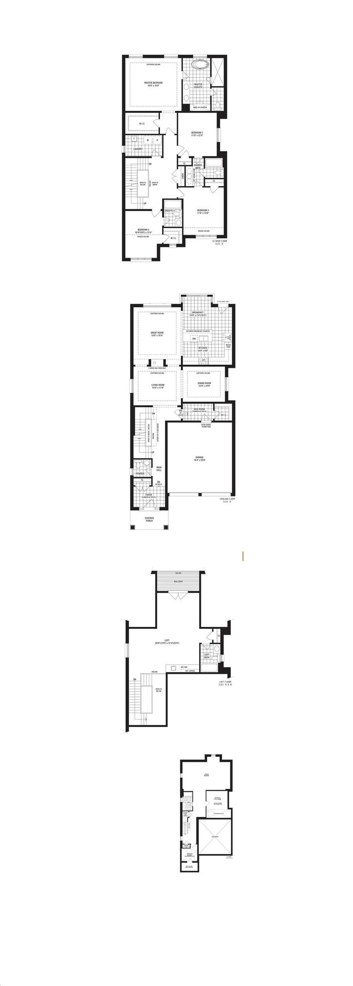 Observatory Hill By Conservatory Carina Floorplan 4 Bed 5 Bath
