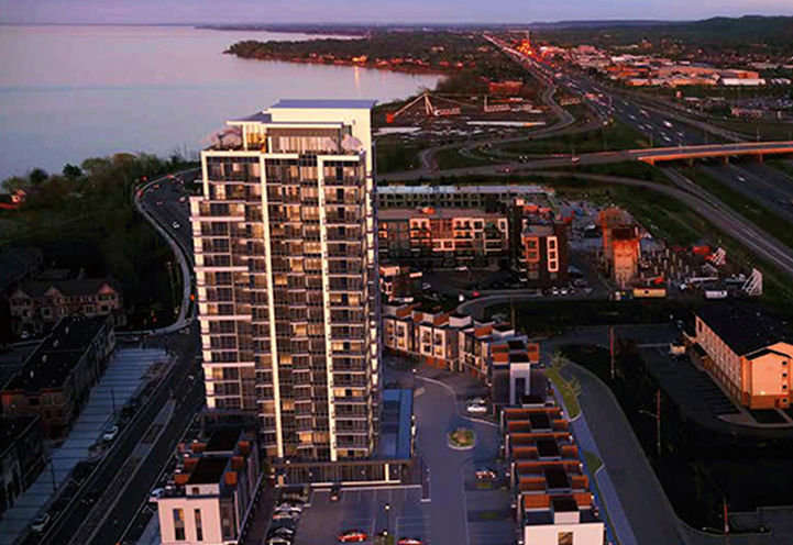 Aerial View of Odyssey Condos