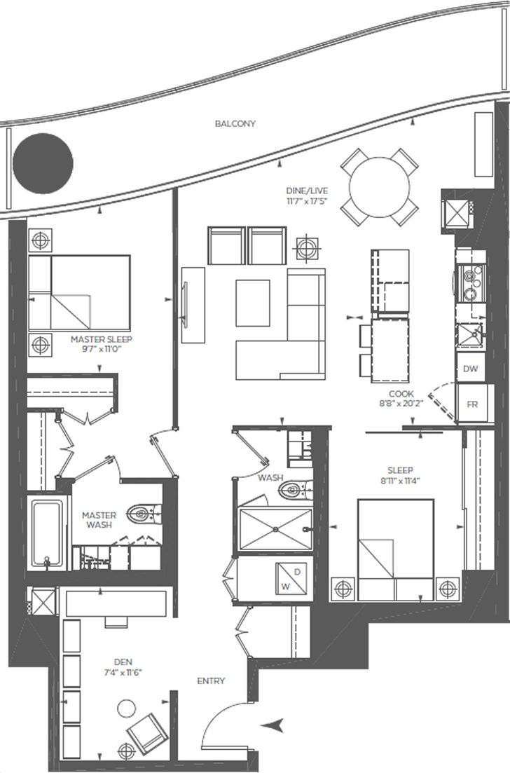 One Bloor Condo By Great Gulf Vitality Eight Floorplan 2