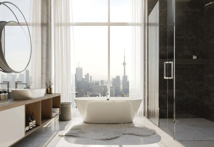 Penthouse Bathroom at One Bloor Condo