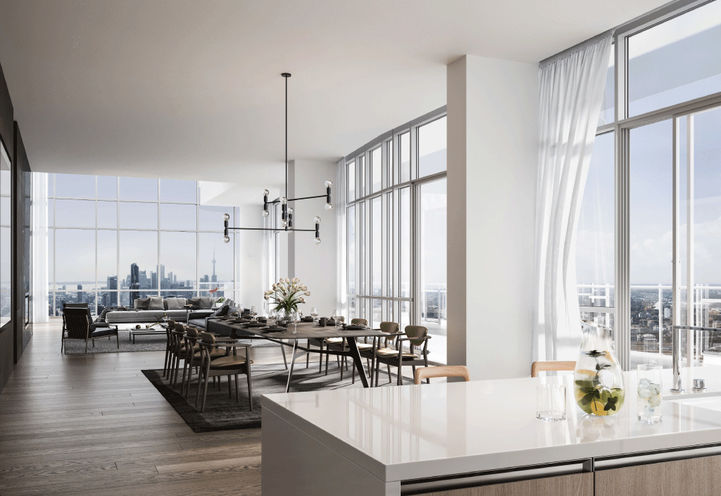 Penthouse Dining Area at One Bloor Condo