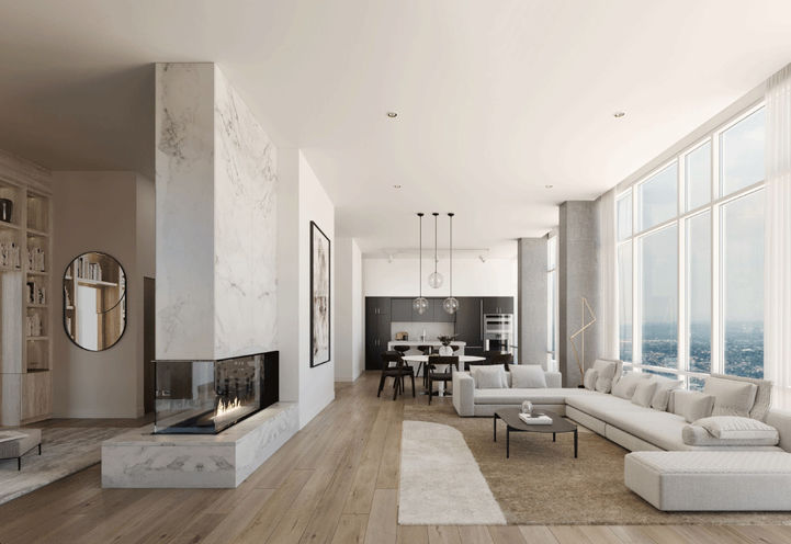 Penthouse Interior Living Space at One Bloor Condo