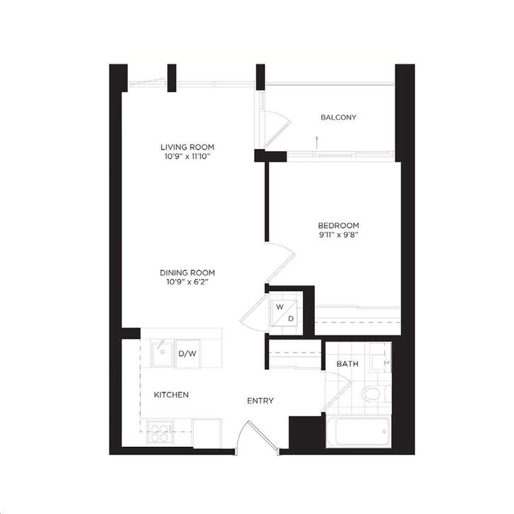 One park place south tower by daniels daffodil floorplan for Park place floor plans