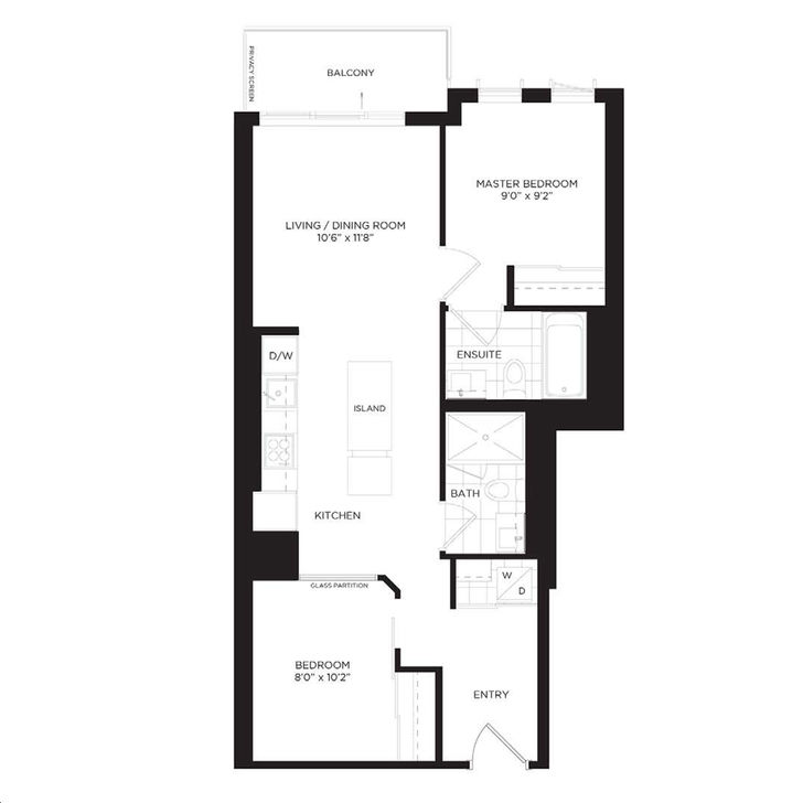 One Park Place South Tower By Daniels Magnolia Floorplan