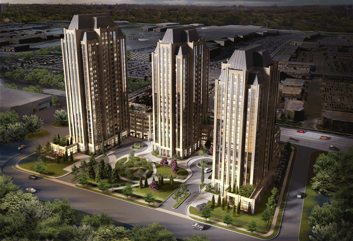 Park Avenue Place Full Ariel Rendering