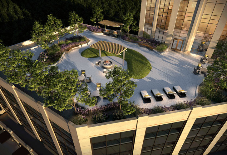 Park Avenue Place Rooftop Terrace Ariel