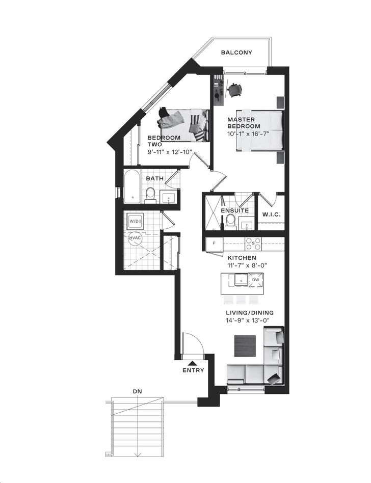 Parkside Urban Towns By Averton Colton Floorplan 2 Bed 2 Bath