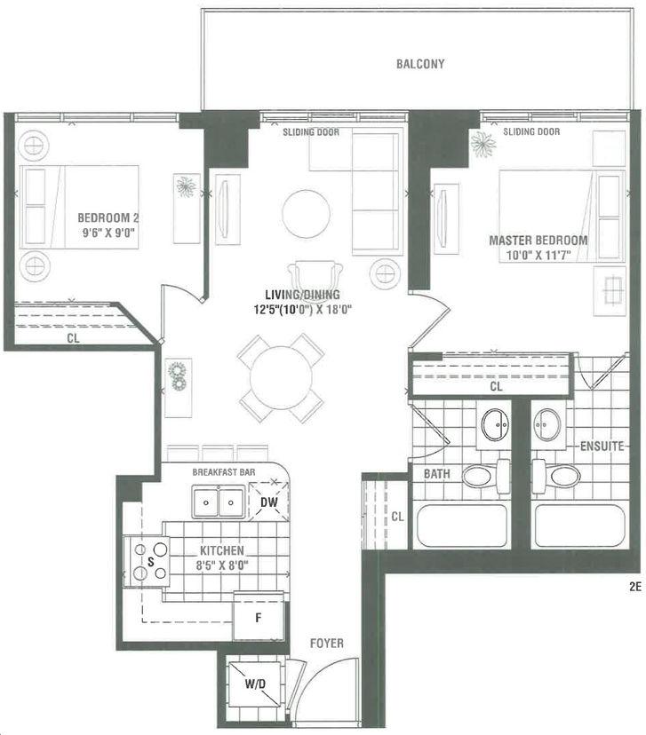 Westgate Palace Floor Plans: Palace Floorplan 2 Bed & 2