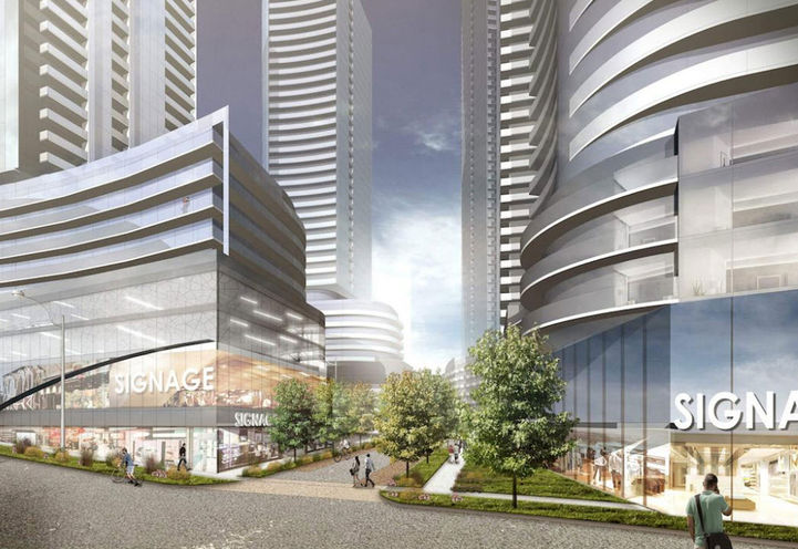 9-Tower Master Planned Pinnacle Etobicoke- Preliminary Rendering