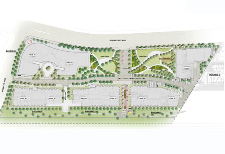 Proposed Site Plan For Pinnacle Etobicoke