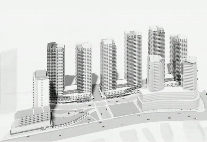 The newly re-designed plan for Pinnacle Etobicoke Condos