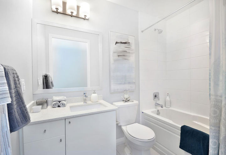 Model Suite Bathroom Features and Finishes at Pinnacle Toronto East Condos