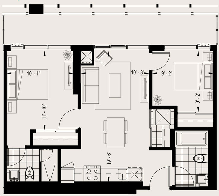 Playground Condos By Cityzen Assignment Unit Model A Floorplan 2 Bed 2 Bath