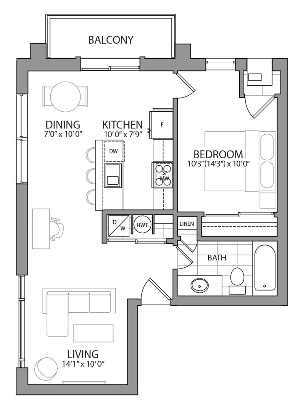 Q1222 Condos by calibrex-Development- Unit 12222 Floorplan 1222 bed & 1222 bath