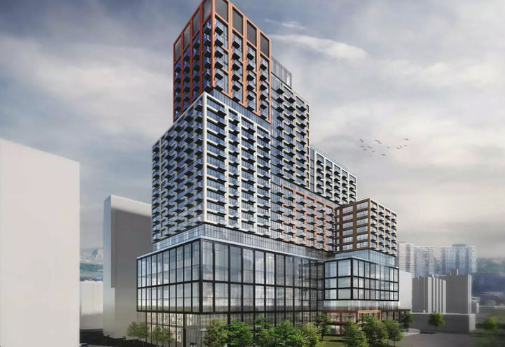 Initial Rendering of 245 Queen Street East Condo Buildings