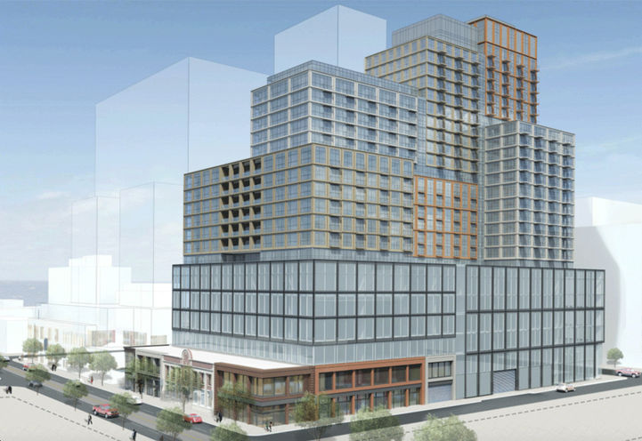 Initial Rendering of Queen and Sherbourne Condos