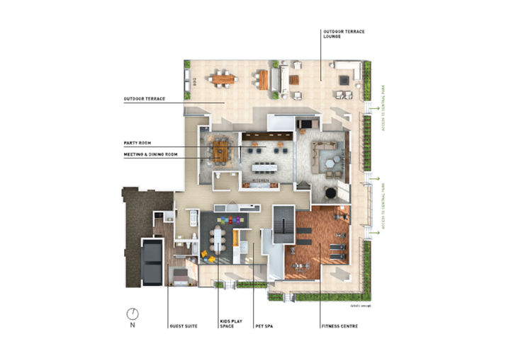 Amenities Site Plan at Queensview at Backyard