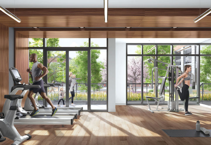 Fitness Room at Queensview at Backyard
