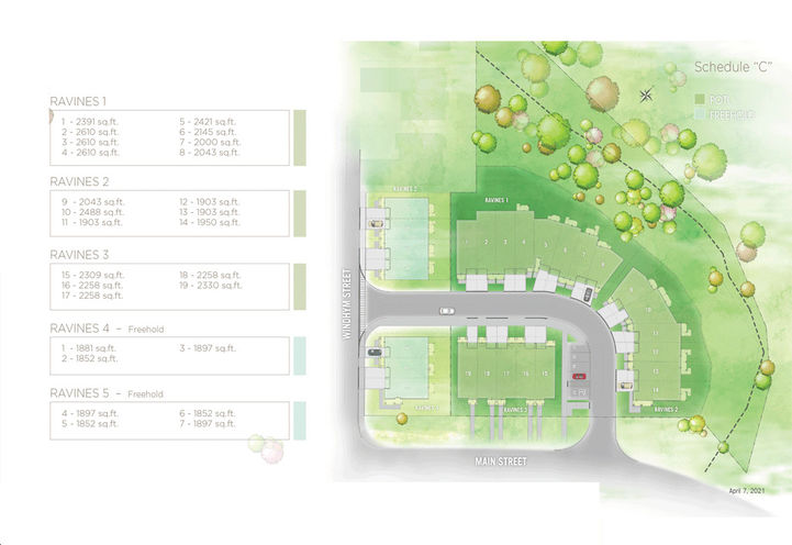 Ravines On Main Towns- Site Plan