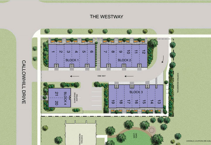 Richview Park Townhomes- Siteplan