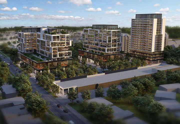 Intial Plan for Richview Square Condos 3 by  Trinity Development Group