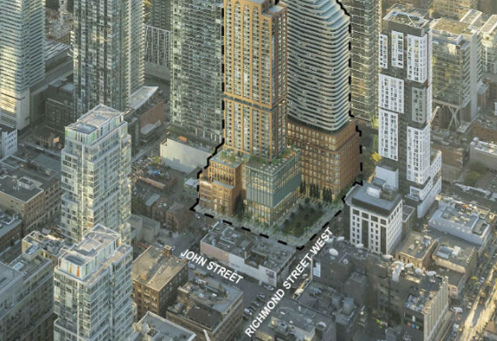 Riocan Hall Condos Southwest Aerial View