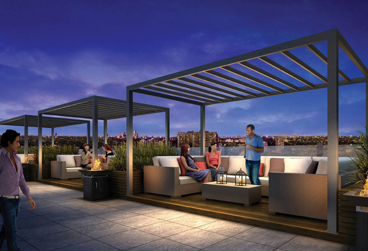 Cabanas on The Roof Terrace at Rise Condos
