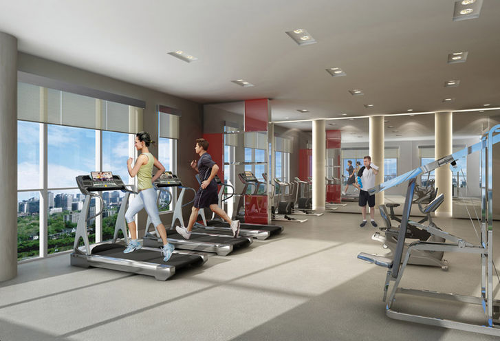 Fitness Center at Rise Condos