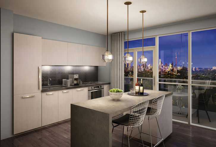 Kitchen Features and Finishes at Rise Condos