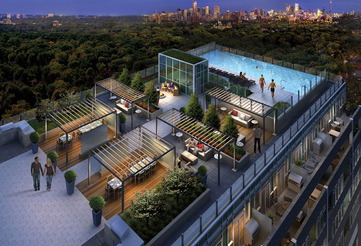 Roof Terrace at Rise Condominiums