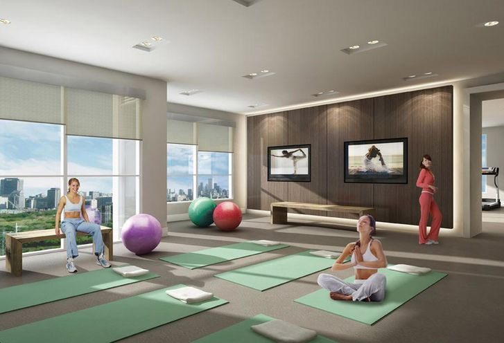 Yoga Studio- Rise Condo's Amenities