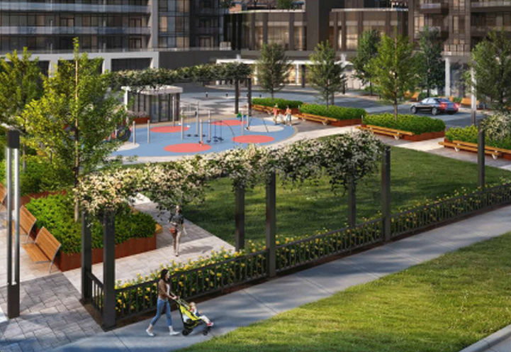 Outdoor Amenity Space at Riverview Condos 2