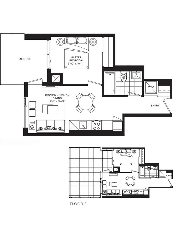 Rodeo Drive Condos Phase 2 By Lanterra Carson Floorplan 1