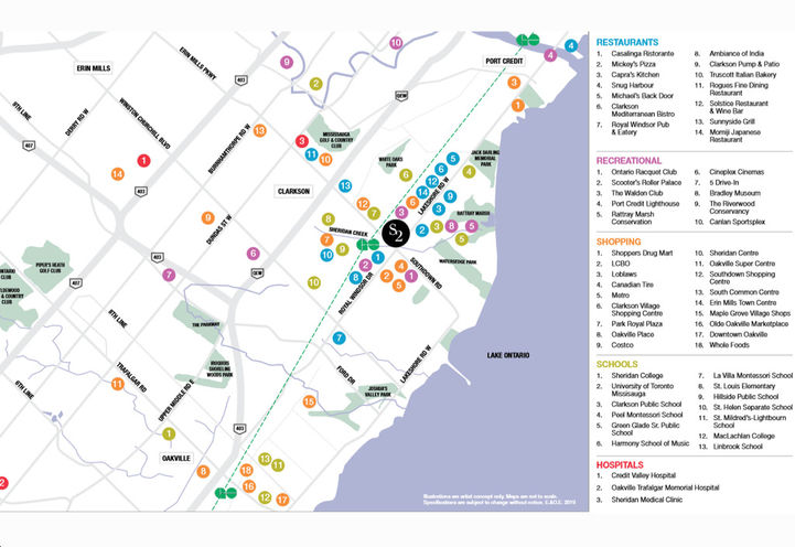 Amenity Map For S2 Stonebrook Private Residences