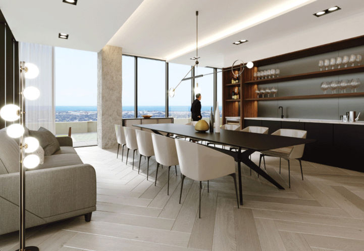 Sky Club Dining Room at S2 Stonebrook Private Residnces