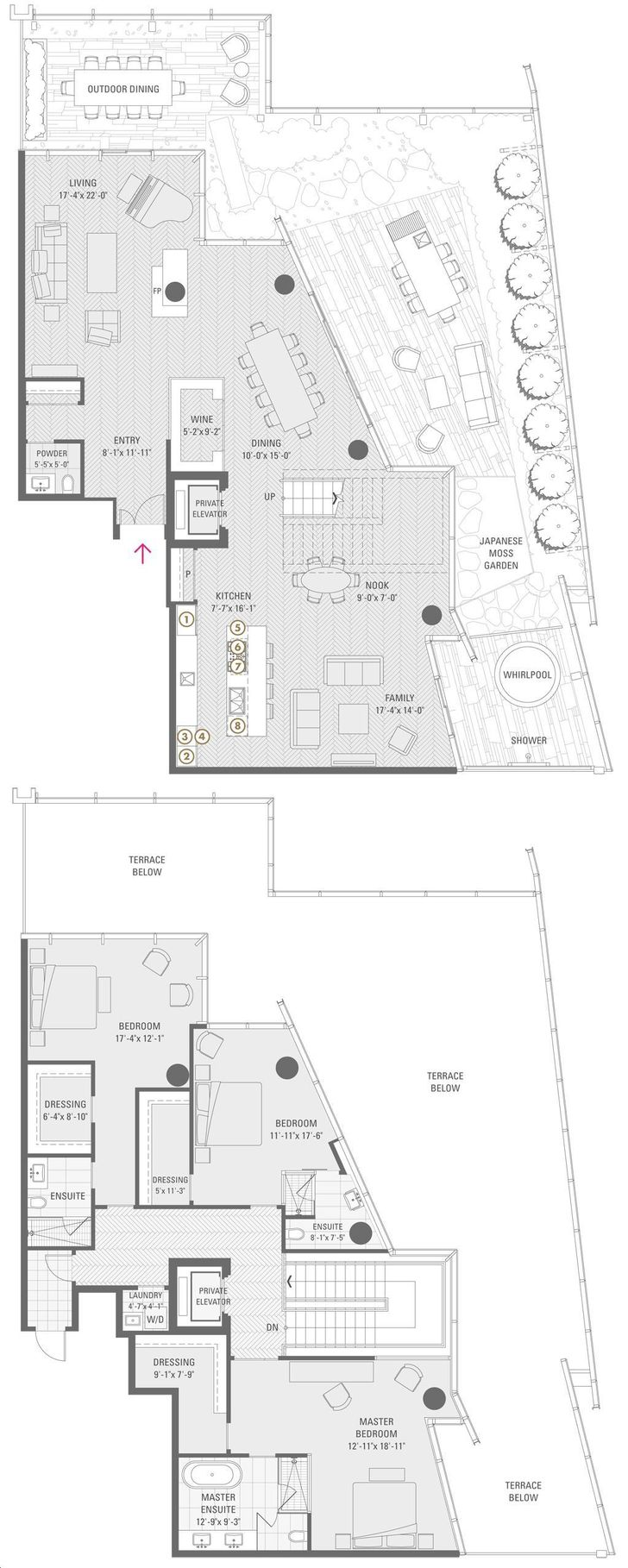 shangri la condos by peterson group penthouse 01 lower floorplan