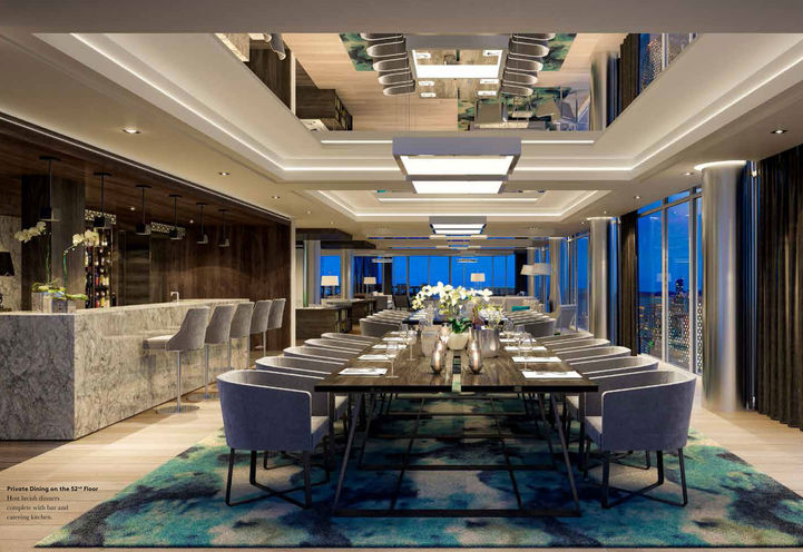 Private Dining on the 52nd Floor at Social Condos