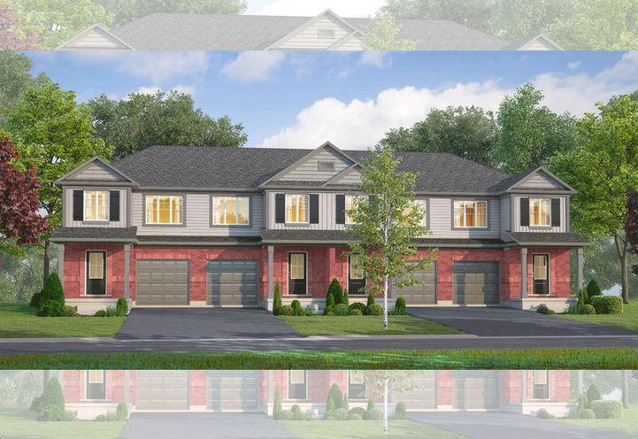 Street Level View of Sparrow Meadow Towns Exteriors