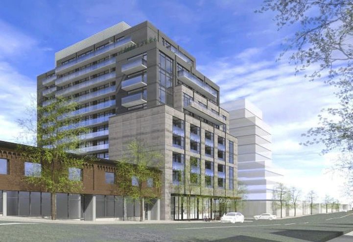 Northeast View of 908 St Clair Condos