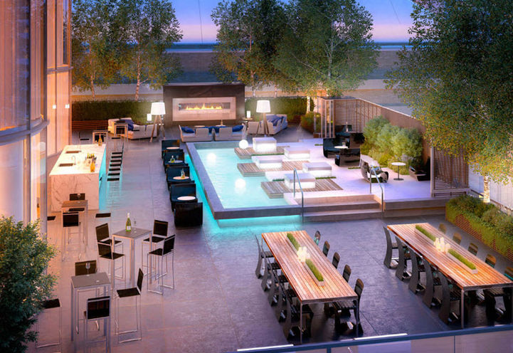 Stanley Condos Amenities- Rooftop Lounge Area
