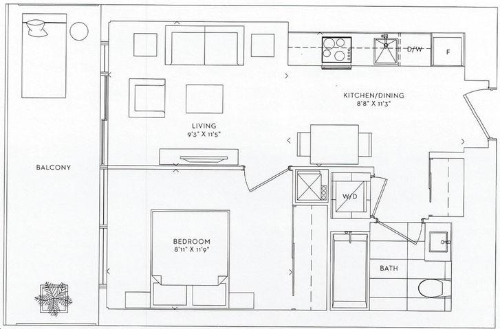 Sugar Wharf Condos By Menkes Crest Floorplan 1 Bed Amp 1 Bath