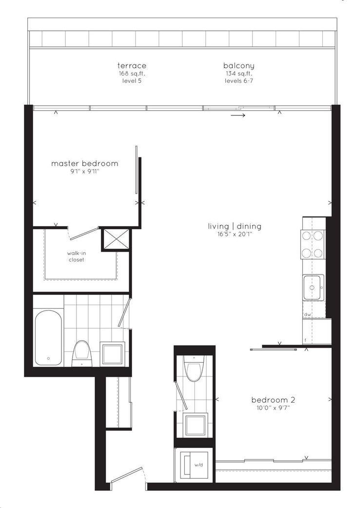 Sync Lofts By Streetcar 819 Floorplan 2 Bed 2 Bath